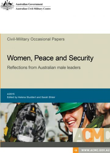Women, Peace and Security: Reflections from Australian male leaders_cover image